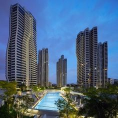 Zaha+Hadid's+D'Leedon+complex+in+Singapore+features+towers+with+petal-shaped+plans