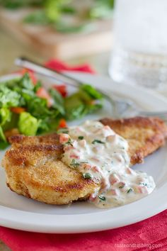 Chicken with Basil Cream Sauce - Fresh basil