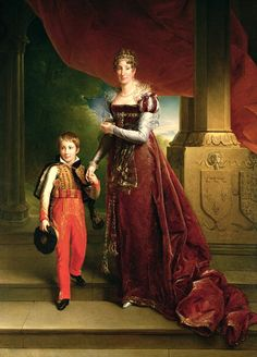 Marie Amelie De Bourbon Duchess Of Orleans And Her Son, Prince Ferdinand Duke by Francois Pascal Simon, Baron Gerard Amelie, Empress Josephine, Napoleon Josephine, Bourbon, Ferdinand, Naples, Maria Amelia, French Royalty, Regency Era