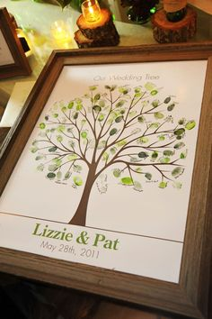 """Wedding tree """"guest books"""" make great art for your home"""