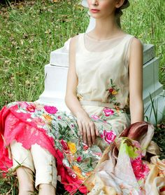 Buy Off-White Embroidered Cotton Lawn Dress by Tabassum Mughal.