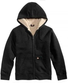 Dickies Men's Sherpa-Lined Full-Zip Hoodie - Black XL