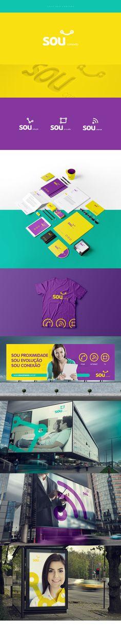 Criação de marca e identidade visual para companhia telefônica Sou.