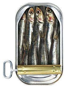 Sardinas conservadas en aceite, con lata 'key-opening'