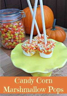 Pumpkin Dipped Marshmallows