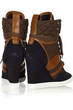 Chloé-Suede-Leather-and-Canvas-Wedge-Sneakers-03.jpg (395×593)