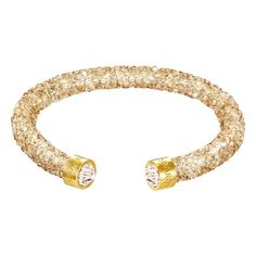 Swarovski Crystaldust Gold Tone Cuff Bangle