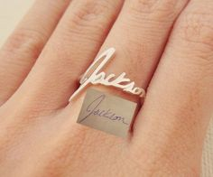 Memorial Signature Ring Personalized by CaitlynMinimalist on Etsy