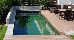 Schwimmen ohne Chemie im biologischen Schwimmteich/Naturpool Outdoor Decor, Home Decor, Stone Fence, Chemistry, Water Pond, Natural Stones, Swimming, Decoration Home, Room Decor