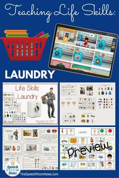 Functional Life Skills: Laundry Lessons & Apps Is it ironic that I'm talking about laundry at school but I have a huge looming pile of it at home at all times? If you're teaching older students in Daily Living Skills Units I hope Life Skills Lessons, Life Skills Activities, Life Skills Classroom, Teaching Life Skills, Special Education Classroom, Social Activities, Teaching Ideas, Classroom Ideas, Special Education Activities