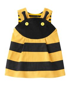 Fun to wear bumble bee dress up game dress in yellow and black high quality cotton cord. Wild Things dresses original designs are made to play the role, promote, while everyday clothing, fun, Little Dresses, Little Girl Dresses, Girls Pinafore Dress, Baby Dress Design, Tops For Leggings, Yellow Dress, Playing Dress Up, Fashion Kids, Kids Outfits