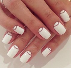 Inspiration nail art #manucure #onglesvernis #ongles #blanc #vernis #nailart #monvanityideal