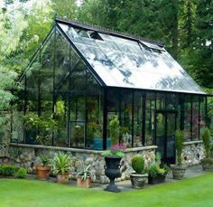 BC Greenhouse Builders, Hobby Greenhouses: Best selection in the United States a… - DIY Garten Small Glass Greenhouse, Backyard Greenhouse, Greenhouse Plans, Greenhouses For Sale, Greenhouse Kits For Sale, Glass House, Conservatory, Hydroponics, Garden Inspiration