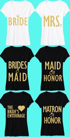 Receive 7 #BRIDE / #WEDDING  SHIRTS & Get 15% Off Bundle + FREE MRS. Tote  by #NobullWomanApparel, for only $148.95! Click here to buy https://www.etsy.com/listing/230639650/bride-wedding-7-shirts-15-off-bundle?ref=shop_home_active_23