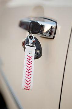 Baseball /Softball Leather Key Chains {Jane Deals}