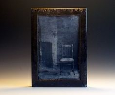 You could 3D print mold positives from photographs then fuse the frit or powdered glass into the mold. With at least 2 colors, you can create a continuous tone image in glass. A reverse lithophane - or, lithovitrum print. This is fabricated entirely of frit from a 3D printed mold positive. solitude.jpg