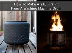 """How To Make A $10 Fire Pit From A Washing Machine Drum  http://homestead-and-survival.com/how-to-make-a-10-fire-pit-from-a-washing-machine-drum/  Invite the neighbors to a backyard bonfire. Here's a simple way to make your own $10 fire pit from a washing machine drum.  Please COMMENT & SHARE MY post! My recipes and posts aren't being seen lately, so I need your help!! Thanks!  To find this post when you are ready to use it, """"Share"""" to your Timeline now!!  ╔═══════════════ ೋღღೋ ..."""