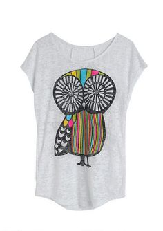 Owl Burnout Tee - View All Graphic Tees - Graphic Tees - dELiA*s