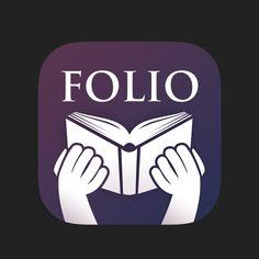 Icon Design  KorbCorp Folio ios app by Alex Rockbell for KorbCorp, via Behance      For Download : https://itunes.apple.com/us/app/kc-folio-citalka-s-ekskluzivnym/id895549206?mt=8