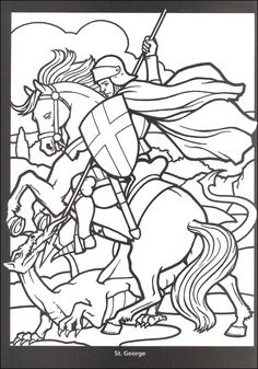 medieval stained glass coloring pages - Bing Images