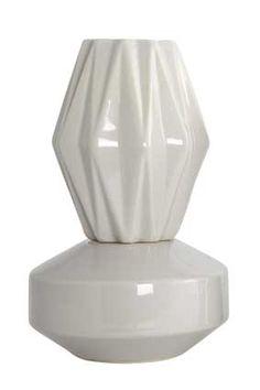Stoneware origami vase from House Doctor DK