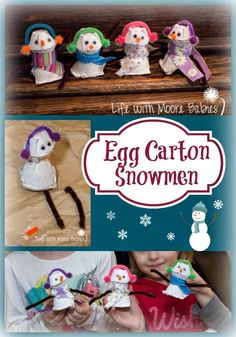Life with Moore Babies: Egg Carton Snowman
