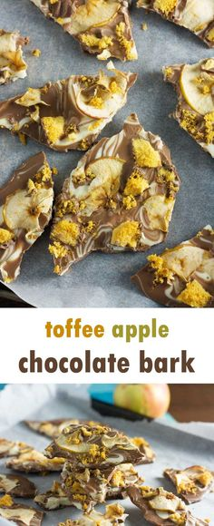 Toffee apple chocolate bark - a perfect little gift for a dinner host