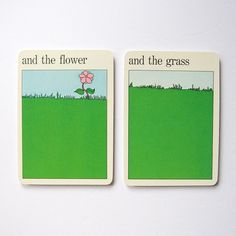 Flower and Grass Vintage MOMA Art Cards Spring by LastCentury