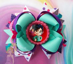 Wreck it Ralph hair bow Vanellope hair clip bottle by JaybeePepper, $7.75