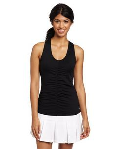 Lija Women's Fuse Impact Tank Top - Shades Of Grey Collection, Black, Large by Lija. $75.00. V-neck tank with flattering center seam and slight ruching along center seam. Racerback. Includes low-impact shelf bra.