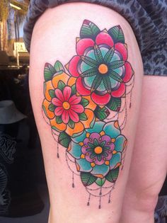 Tattoos by Alex Strangler flower tattoo