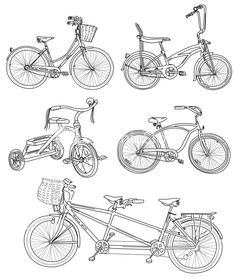 Download Vintage Bicycle Set Stock Image and other stock images, photos, icons, vectors, backgrounds, textures and more.