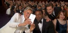Apparently Benedict was in a photobombing mood at the Oscars. I'm not complaining.