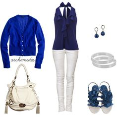 Blue For Day Or Night by archimedes16 on Polyvore