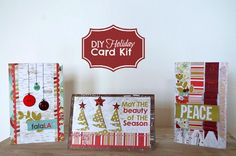 Create Your Own Holiday Cards! Card kit on Blitsy for limited time $10.50 Makes 12 designer cards, four cards in three designs. Envelopes included.