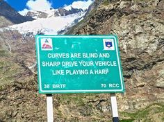 Witty Himalayan road signs – in pictures Funny Road Signs, Sign Quotes, Himalayan, Curves, In This Moment, Humor, How To Plan, Health, Indian Road