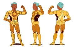 5 Worlds — Some color model sheets and preproduction work for...