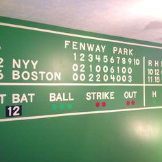 Fenway Park scoreboard for boys bedroom