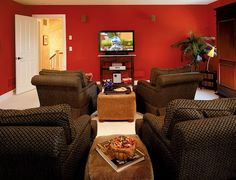 home theater rooms on budget | Can't afford a projector, try a large flat screen television instead