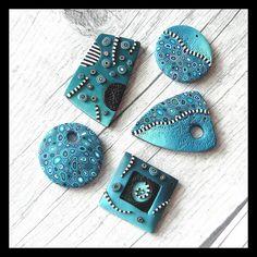 Blue pendants by Verundela, via Flickr