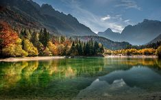 body of water, calm body of water surrounded with trees and mountains HD wallpaper Fall Wallpaper Tumblr, Nature Wallpaper, Hd Wallpaper, Desktop Wallpapers, Flower Wallpaper, Landscape Photography, Nature Photography, Mountain Wallpaper, Water Me
