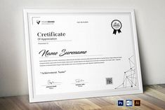 Certificate by CreativeZoom Certificate Of Appreciation, Certificate Of Achievement, Stationery Templates, Design Templates, Certificate Design Template, Branding Kit, Packaging Design, Business Company, Lettering