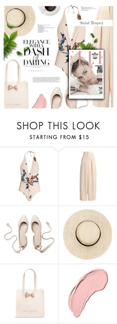 """""""SAINT TROPEZ TRAVEL OUTFIT XO"""" by hallode ❤ liked on Polyvore featuring Katie Eary, Ted Baker and NYX"""