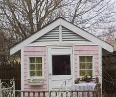 I wnat one of these little houses in my back garden please...via pink cottage
