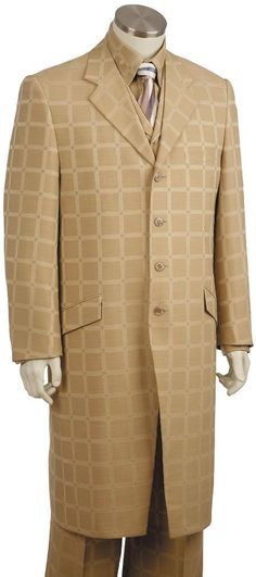 Mens 3 Piece Long Zoot Suit Taupe | MensITALY  Price: US $175