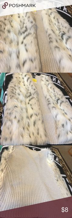 Never worn! Tags on fur vest! Never worn fur vest with knitted back! Other