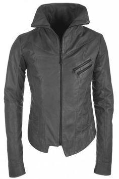 a328d1453c23 Delusion Bifurcate Leather Jacket Grey Lederjacken, Designer Lederjacken,  Anzug Accessoires, Coole Jacken,