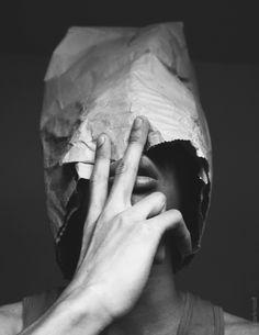 paper bag head.