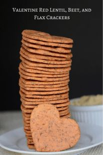 Valentine Red Lentil, Beet, and Flax Crackers - Queen of My Kitchen