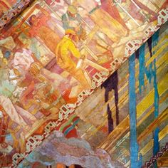 1000 images about depression era art deco murals on for Chrysler building lobby mural